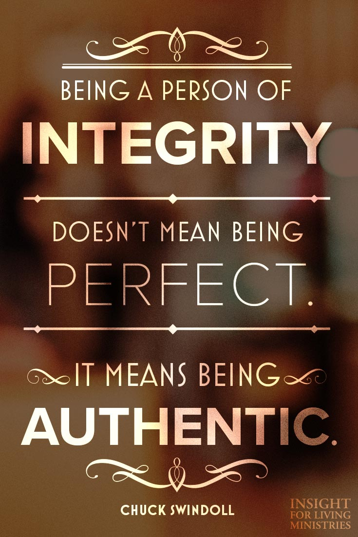 Being a person of integrity doesn