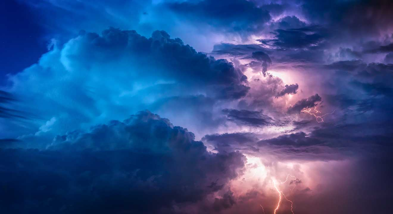 image of clouds and lightning