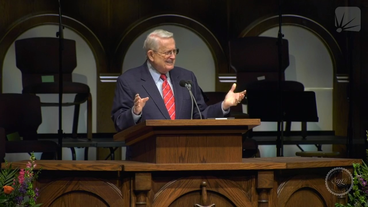 Chuck in pulpit on 20210411