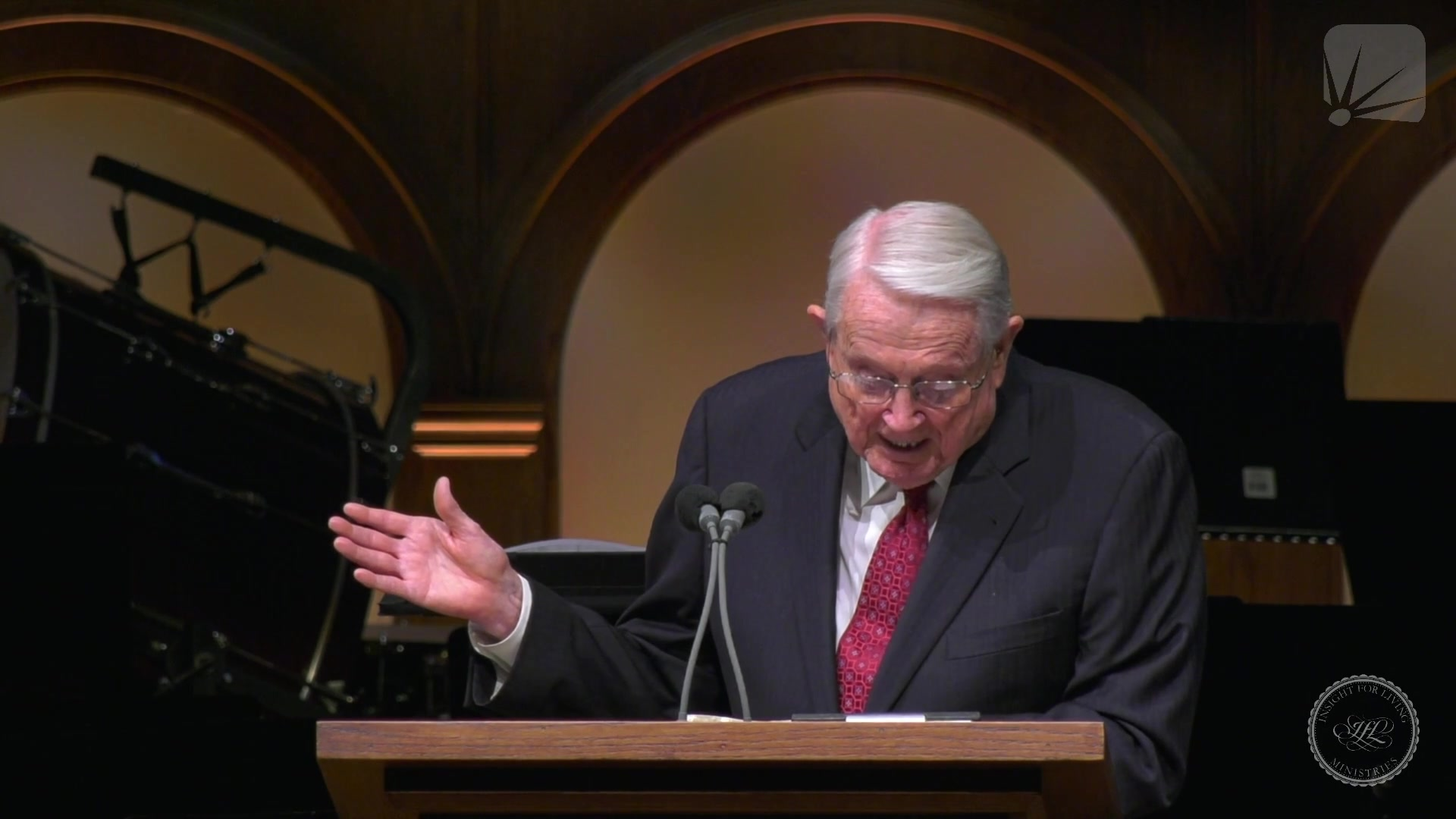 Chuck in pulpit on 20210704