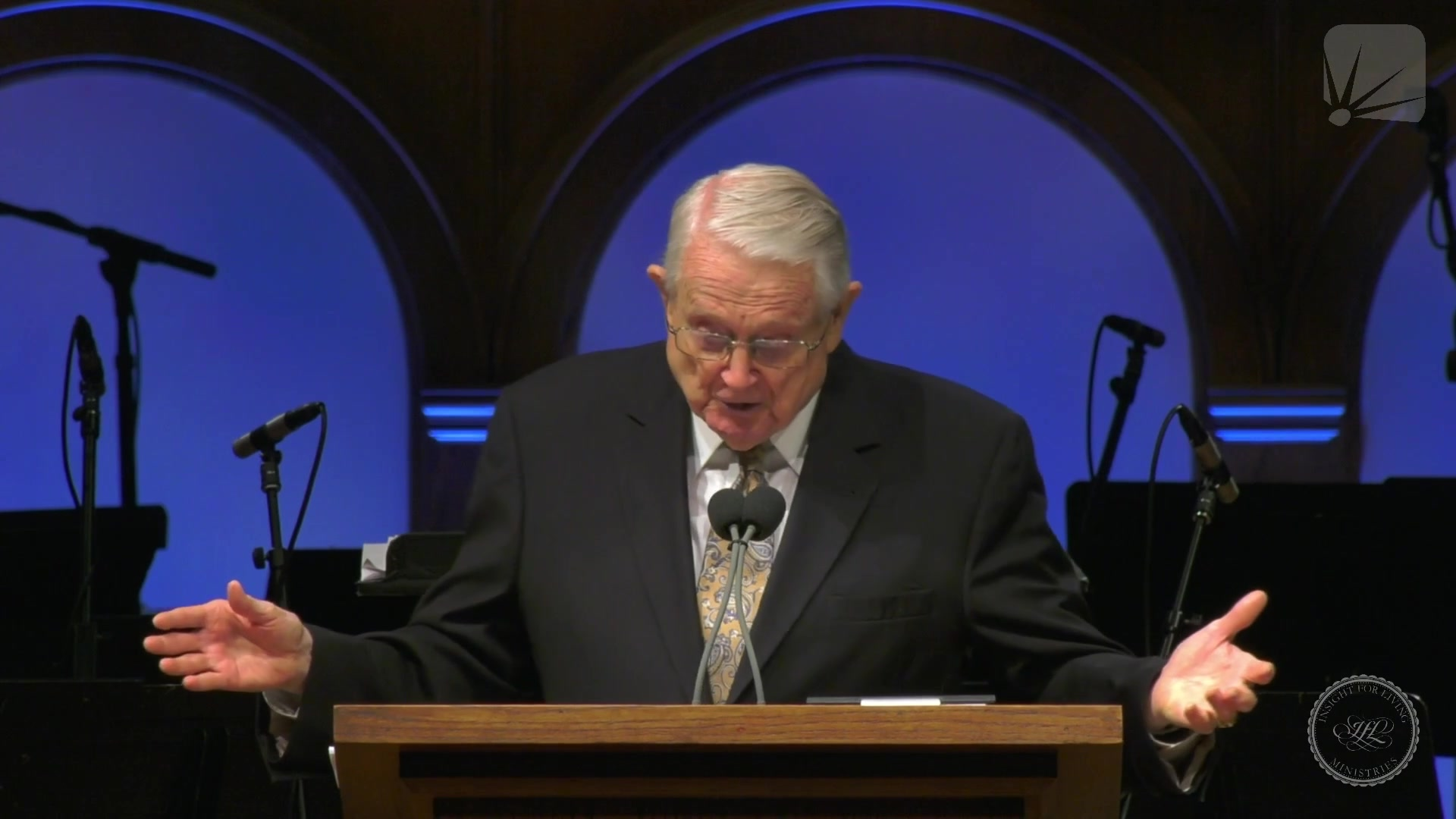 Chuck in pulpit on 20210912