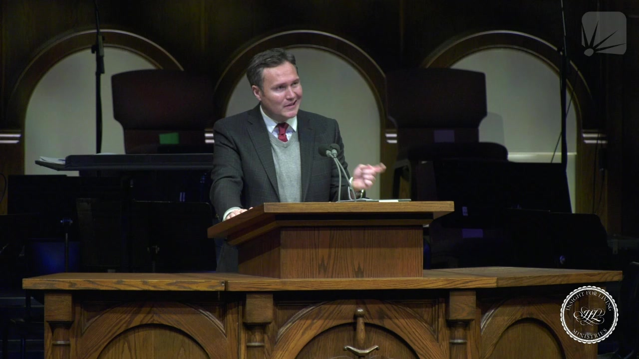 Jonathan Murphy in pulpit on 20210207