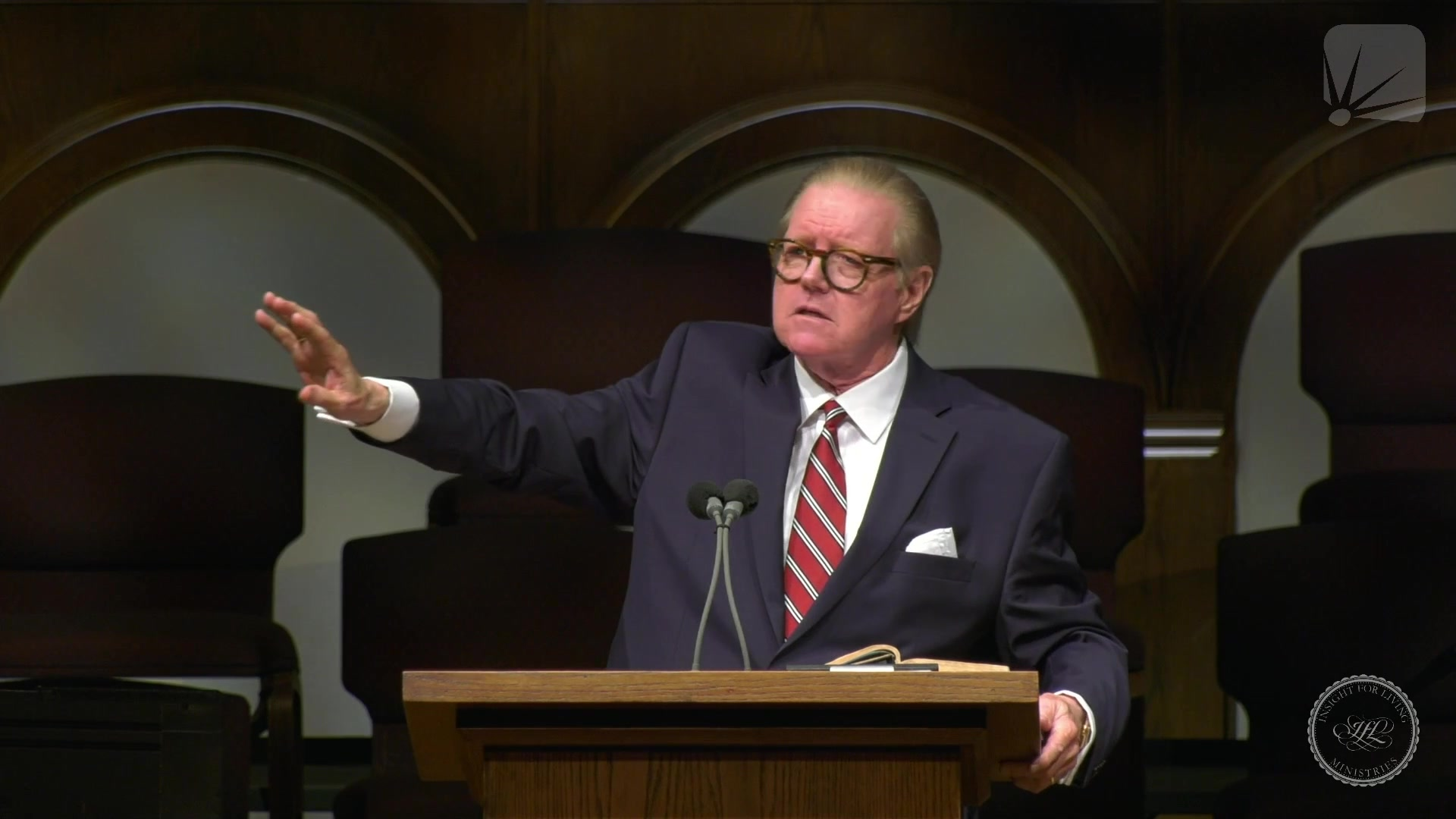 Rev. Bill Butterworth in pulpit on 20210711