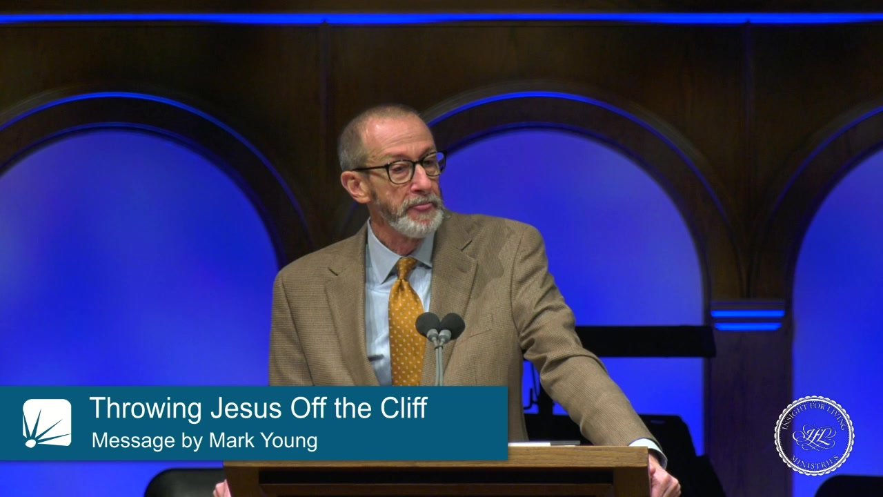 Dr. Mark Young in pulpit 20200308