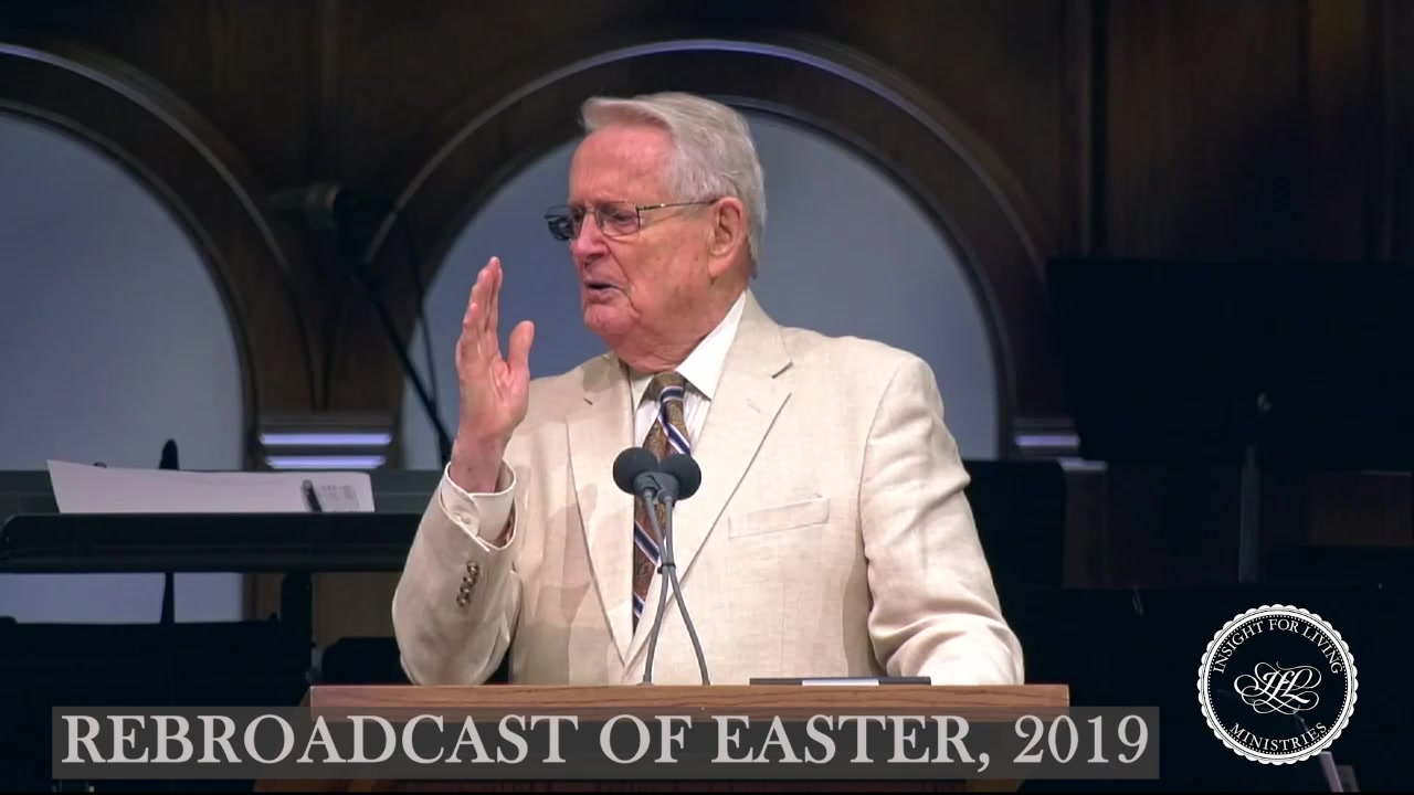 image of Chuck in pulpit on Easter Sunday 2019
