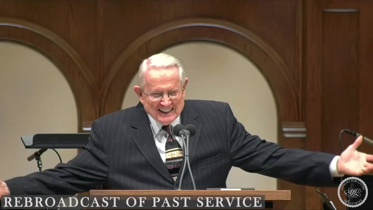 Chuck in pulpit