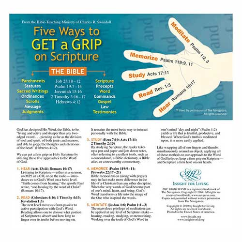 Five Ways to Get a Grip on Scripture Bookmark