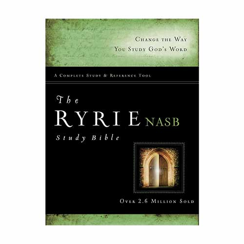 The Ryrie NAS Study Bible Red Letter