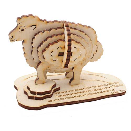 Wooden 3D Sheep