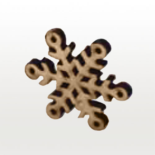 Wooden 3D Snow Flake Ornament