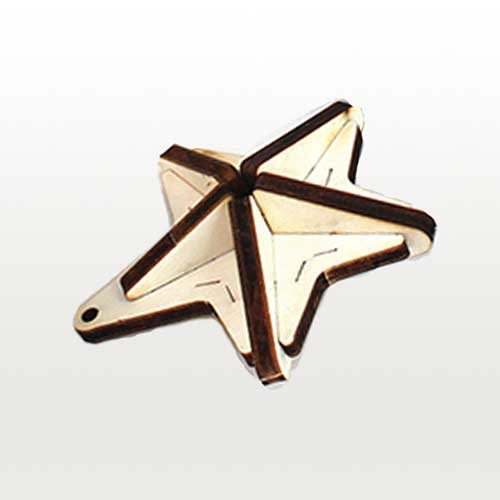 Wooden 3D Star Ornament