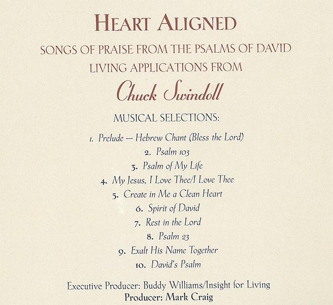 Heart Aligned Songs Of Praise From The Psalms Of David Living