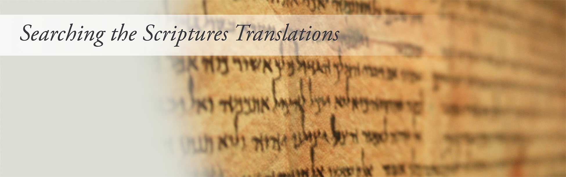 Searching the Scripture Translations