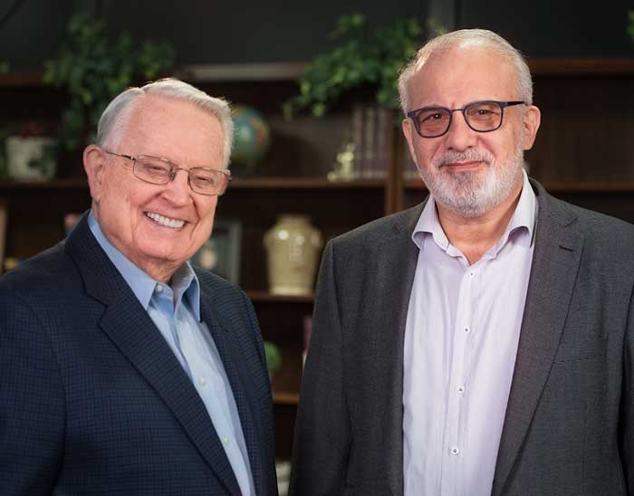 Chuck Swindoll and Charlie Costa