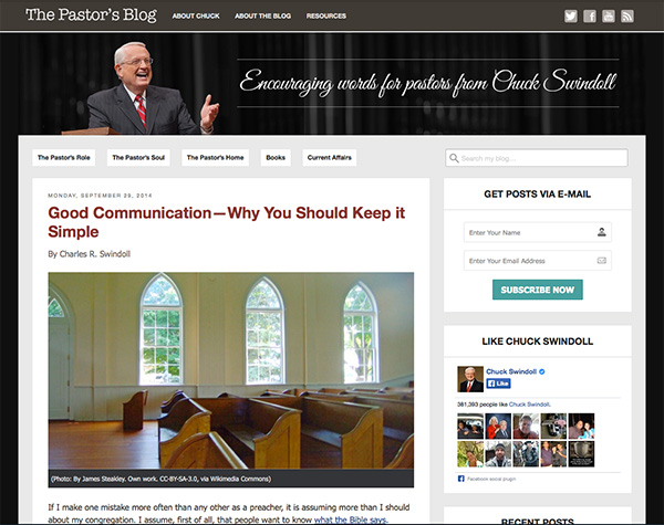 The Pastor's Blog